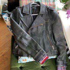 Leather Marc Jacobs moto jacket